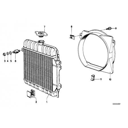 Marco del ventilador Bmw e21