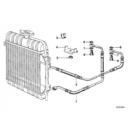 Radiador de e21 M10 automático