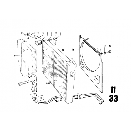 Radiador de agua Bmw E9, E3