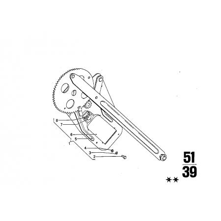 Motor plano izq.-Mecanismo ventanilla. Bmw E3, E24