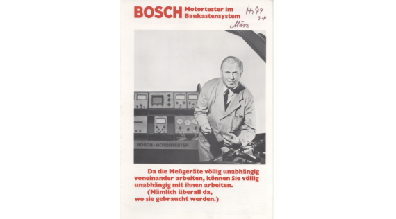 Manual Bosch Motortester