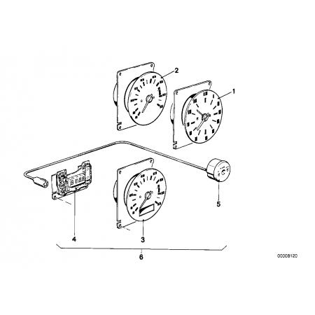 Unidad acción. Reloj digital. Bmw E21