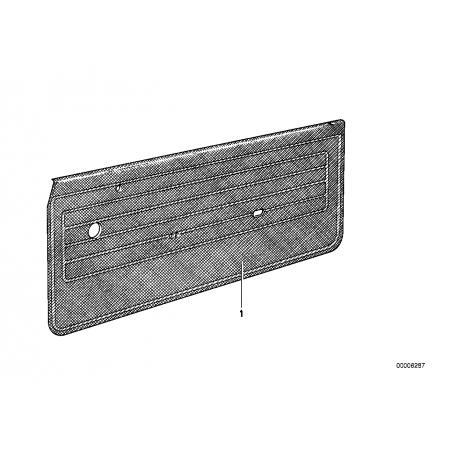 Revestimientos de puertas delanteros y traseros, Bmw E21