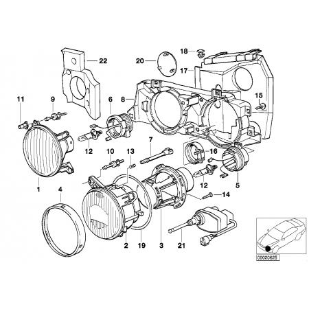 Regulador de faros Bmw E34, E32